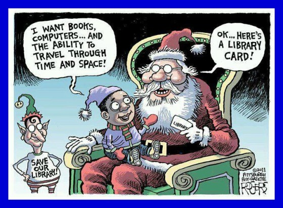 library-christmas